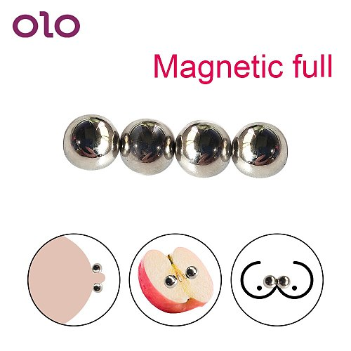OLO 1/2 pair Ultra Powerful Magnetic Orbs Nipple Clamps Labias Clip Sex Toys For Women Sex Shop Strong Clitoris Stimulator