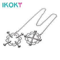 IKOKY A Pair Erotic Toys Adult Games Nipple Stimulator Stainless Steel Nipple Clamps Sex Toys for Couple Breast Clips
