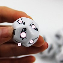 2.5cm Funny Sexy Toy for Couple Adult Sexy Game 12 Positions Dice Sexy Romance Adult Humor Erotic Make love Toys