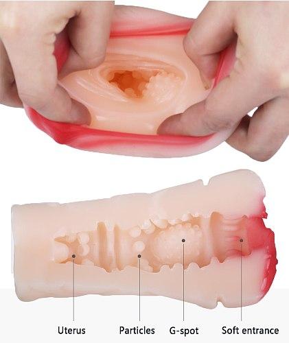 Anime Artificial Vagina Masturbator Cup Fake Anal Simulator Erotic Adult Toys Real Vagina Sex Toys for Man Pocket Silicon Pussy