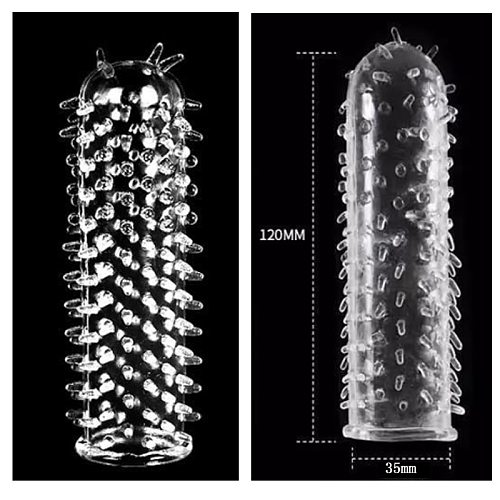 12CM Reusable Condoms Penis Extender Sleeve Delay Ejaculation Clitoral Stimulator Sex Toys For Men Couples Intimate Goods
