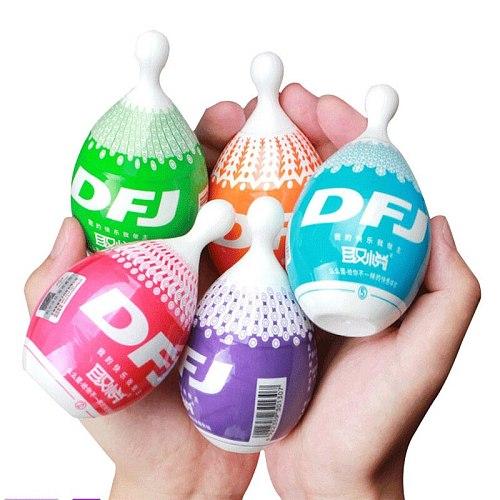 Sex Toys For Men DFJ Masturbation Egg Pocket Masturbator Cup 3D Realistic Vagina Pussy Endurance Exercise Sex Tools Sex Shop