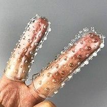 2PCS Finger Reusable Condoms Sex Toys For Woman Clitoris Stimulator Penis Sleeve Condom Vagina Masturbation Toys