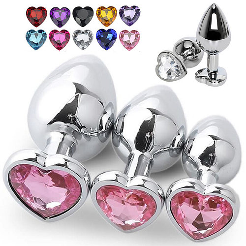 Stainless Steel Crystal Anal Toys Butt Plug Stainless Steel Anal Plug Sex Toys for Women Adult Sex Products Plug Anal Prostate