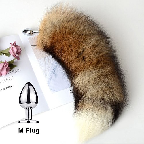Detachable Anal Plug Fox Tail Smooth Touch Metal Butt Plug Tail Erotic BDSM Sex Toys For Woman Couples Adult Sex Game Sexy Shop
