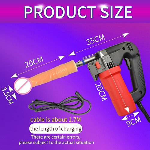YUSE New Sex Machine Female Masturbation Pumping Gun with 6 Dildos Attachments Automatic Sex Machines for Women Sex Products