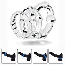 Set of 3PCS Durable Cock Rings Bead Penis Ring Male Delay Ejaculation Lasting Erection Ring Sex Toys For Men Adults