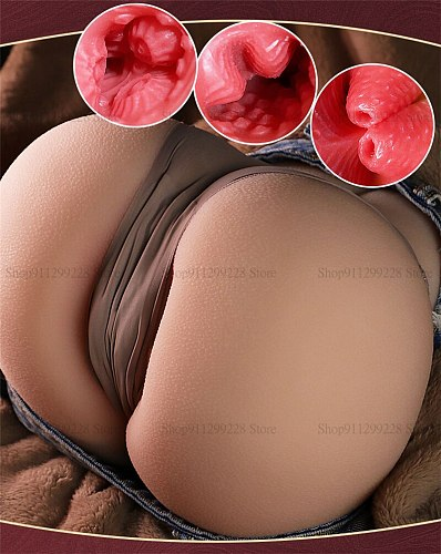 Top Quality 3D 1:1 Realistic Big Ass Sex Doll Half Body Real Vagina Anul Pussy Dual Channel Male Masturbator Masturbate For Men