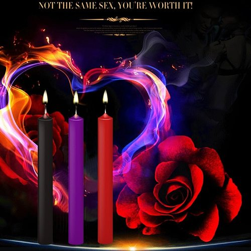 Low Temperature Paraffin Candle for Couples Wedding Home Decoration Adult Games Bdsm Bondage Pleasuring Toys