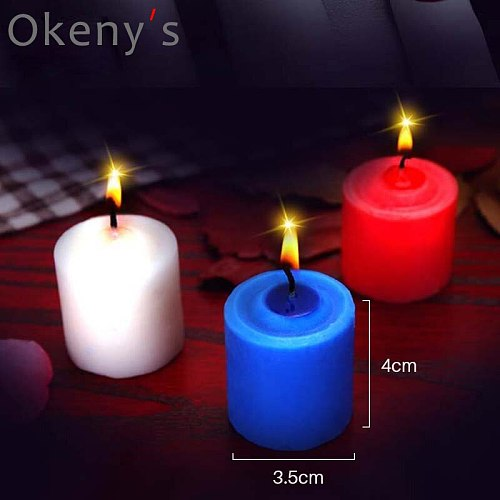 3PCS Low Temperature Candle Bdsm Sex Candle Drip Sex Bed Flirting Teasing Massage Candles Ehance Desire Erotic Games Couple