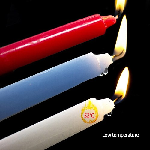 3pcs Low Temperature Candle Bdsm Drip Candles SM Bed Restraints For Women Men Sex Bondage Sensual Wax Erotic Toy Adult Game Tool