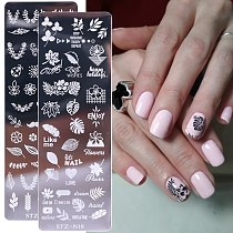 1pcs Nail Stamping Plates Flower Leaf Geometry Animals Image Stamp Templates Dreamcatch Manicure Print Stencil Tools LYSTZN01-12