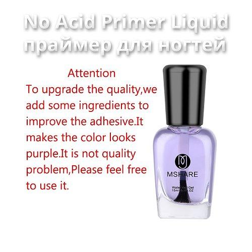 MSHARE Nail Prep Dehydrator Primer Acid Free Fit for Acrylic Nails Bonder  Bond 15ml
