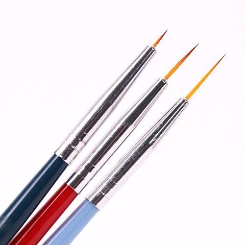 3PCS/Set New Nail Brushl Art Line Painting Pen 3D Tips DIY Acrylic UV Gel Brushes Drawing Design Girl Manicure Painting Tool