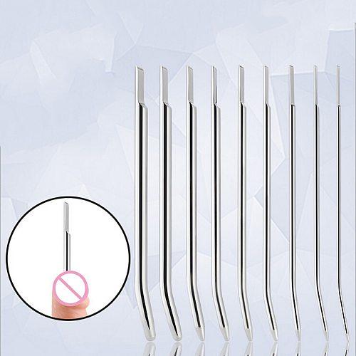 4/5/6/7/8mm Electro Shock Penis Plug Catheters Sounds Urethral Dilators Masturbator Stainless Steel Sex Product For Men