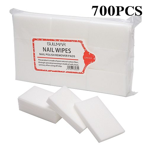 Dmoley 100/700 Pcs Lint-Free Wipes Napkins Nail Polish Remover Gel Nail Wipes Nail Cutton Pads Manicure Pedicure Gel Tools