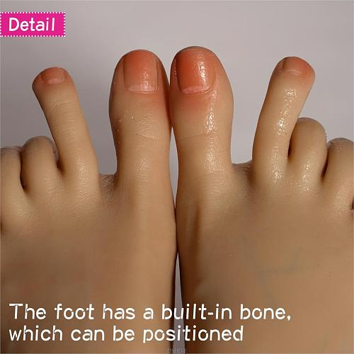 Foot Model Shoe Socks Really can see the blood vessels Fake Nail Display Rubber Silicone  Dummy Human Female TPE TG37D