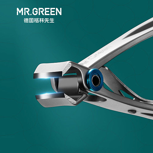 MR.GREEN Nail clippers  Trimmer Stainless Steel Nail tools manicure Thick Nails  cutter  scissors with glass nail file