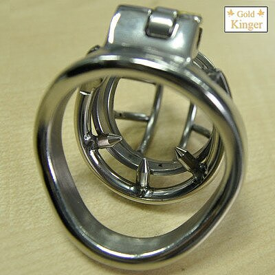 NEW Stainless Steel Super Small Male Chastity Cage with Anti-off ring BDSM Sex Toys For Men Chastity Device 35mm Short Cage