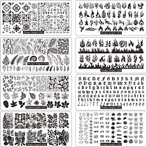 1PC Leaves Are Fall-ing Stamping Plate For Stamped  Nail leaves Stamping Plates Image Painting Nail Art Stencils Template leaves