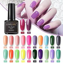 Limegirl Gel Polish Set All For Manicure Semi Permanent Vernis Top Coat UV LED Gel Varnish Soak Off Nail Art Gel Nail Polish