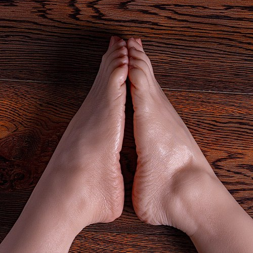 Female Foot Model Liquid Silicone Blood Vessels visible Sole wrinkles for Drawing Practice Exhibition Jewelry shooting TG3816