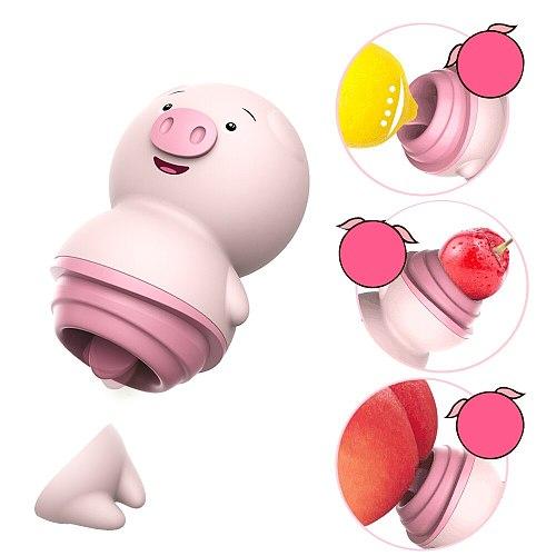 Vibrator Sex Toys for Couple Clitoris Stimulator 6 Modes Nipple Massager Pig Tongue Licking Female Sex Massager Female Adult Toy