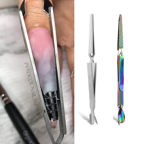 Acrylic Nail Pincher Pinching C Curve Magic Wand Multi Function Sculpted Nails Clamp Tool