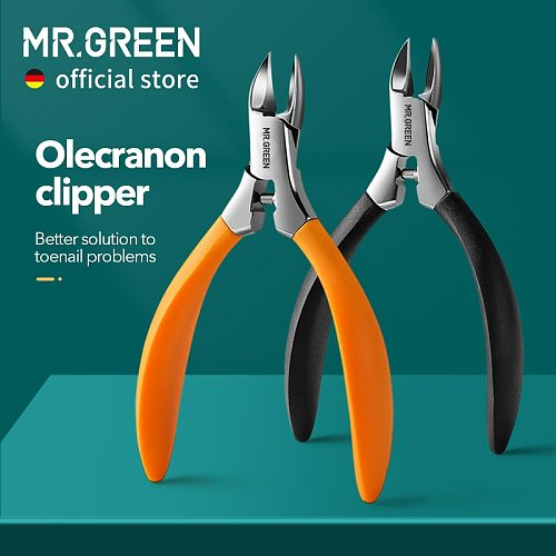 MR.GREEN ingrown Nail Clippers Toenail Cutter Stainless Steel Pedicure Tools Thick Toe Nail Correction Deep Into Nail Grooves