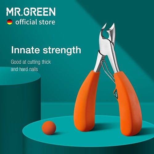 MR.GREEN Nail Clipper Stainless Steel Ingrown Toenail Clipper Good at cutting thick and hard nails Pedicure Manicure Tool