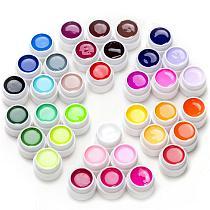 36Pcs Soak Off LED UV Gel Nail Polish Pure Color Nail UV Gel Set & Kit Semi-Permanent Nails Art Gel Lacquer