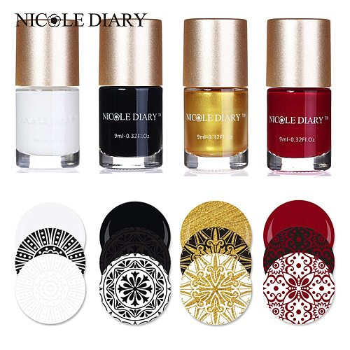 NICOLE DIARY Stamp Nail Polish Stamping Polish Nail Art Stamping Nail varnish for Nail DIY Stamping Plate Tools