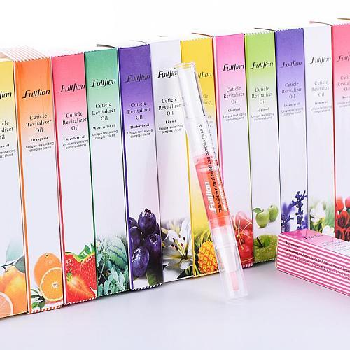 13 Styles Fruit Nail Treatments Pen Repair Oil Nutrition Cuticle Revitalizer Prevent Agnail Nail Care Tools TSLM1