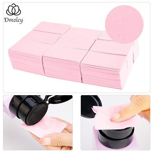 Dmoley 1Pack Lint-Free Wipes Napkins Nail Polish Remover Gel Nail Wipes Nail Cutton Pads Manicure Pedicure Gel Tools