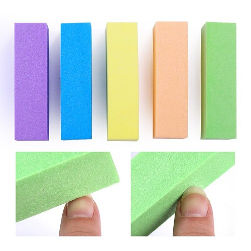 5/10Pcs Nail Buffers Files Set Sponge Sanding Block Grinding Polishing Manicuring Pedicure Professional Nail Art Tools