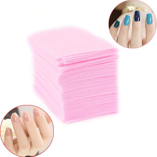 100 Pcs Pink Lint-Free Wipes All For Manicure Nail Polish Remover Pads Paper Nail Cutton Pads Manicure Pedicure Gel Tools