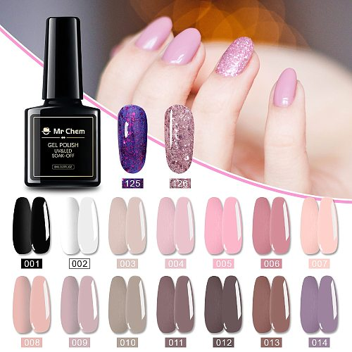 Mr Chem Gel Polish Set Manicure for Nails Semi Permanent Vernis top coat UV LED Gel Varnish Soak Off Nail Art Gel Nail Polish 4.