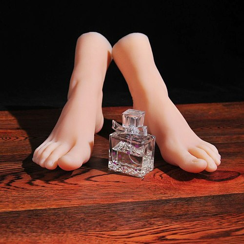 Mannequin Slender Toes Foot Model Greek Feet Shoe Socks for Art Fake Nail Display Tarsel Silicone Female Foot Fetish 3901
