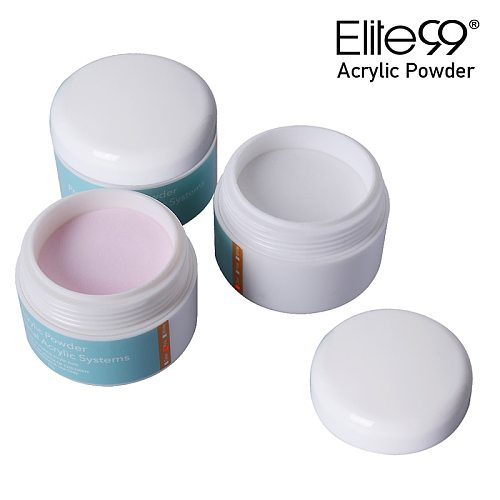 Elite99 15g Acrylic Powder Clear Pink White Carving Crystal Polymer 3D Nail Art Tips Builder for Nails Art Decorations