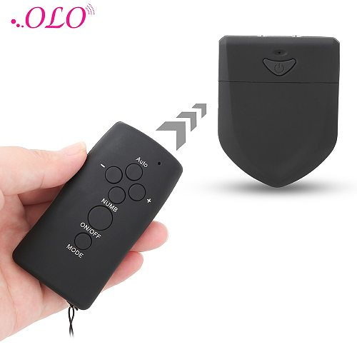 OLO Double Output Remote Electric Shock Host Electro Stimulation Clitoris Nipple Stimulator Medical Themed Toys Accessories