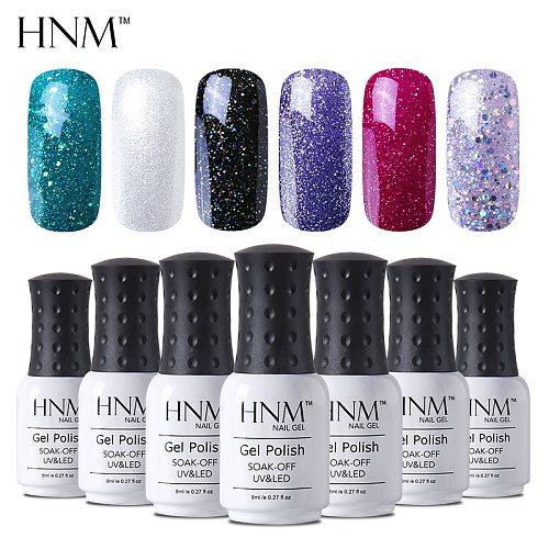 HNM 8ML 28 Rough Color Nail Polish Hybrid Varnish Lucky Lacquer GelLak Gelpolish Semi Permanent Stamping Primer Enamel Soak Off