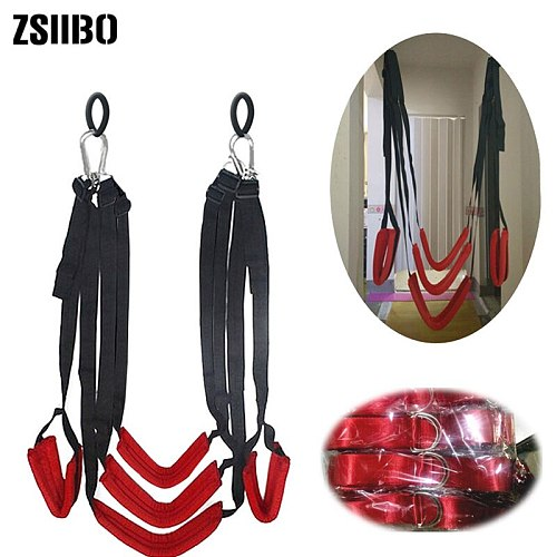 Sex swing luxurious soft material sex furnitureFetish bandage door swing sex erotictoys for couple Upgraded version of the swing