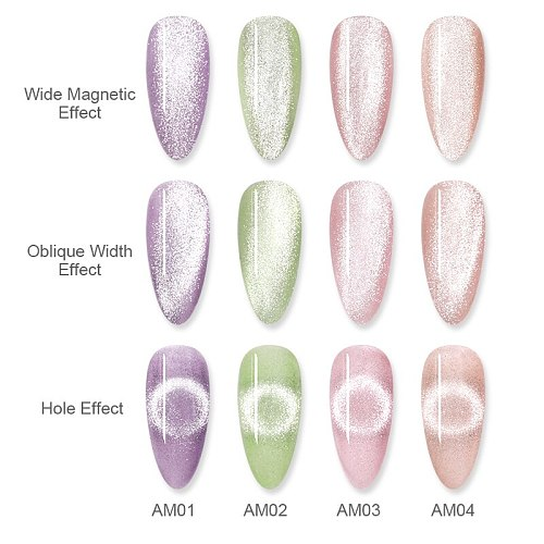 BORN PRETTY Luminous Cat Magnetic Nail Gel 6ml Silver Holographics Glitter Gel Nail Polish Magnetic Gel Polish For Nails Design