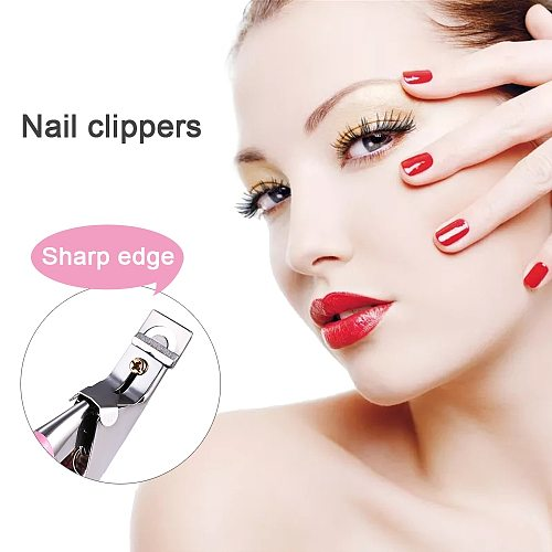 Professional Nail Art Clipper Type U One Word False Tips Edge Cutter Nail Clipper Toe Nail File Foot Care Pedicure Nail Art Tool