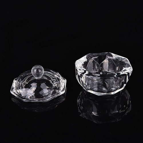 1PC Acrylic Liquid Glass Acrylic Powder Dappen Dish Crystal Glass Cup For Acrylic Nail Art 2 Types