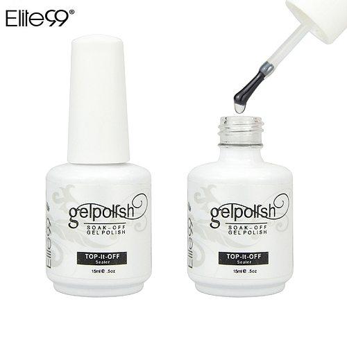 Elite99 15ML Professional Gelpolish Wiping Top Coat UV LED Gel Polish Sealer Nail Art Salon Shiny Clear Nail Polish