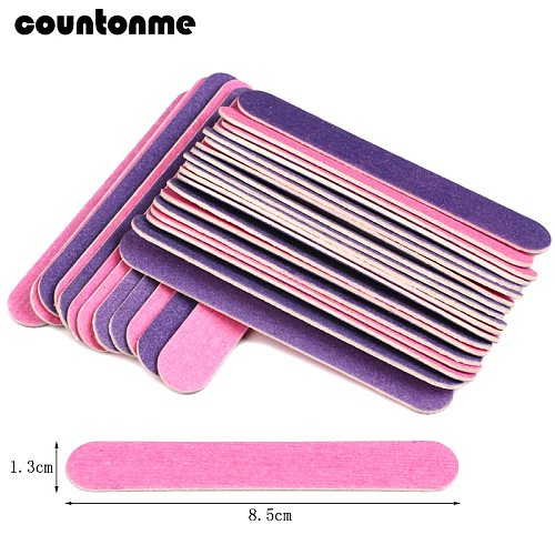 100pcs Double-sided Wood Nail Files Disposable Mini Nail Manicure Tools grit 150/180  85mm Pedicure sanding wood nail buffer