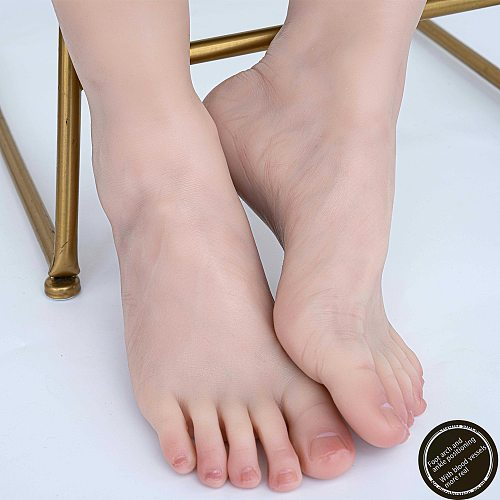 Sexy Foot Model Adult Female Shooting Props Foot Fetish Simulation Liquid Platinum Silicone beauty  bare toes ZISHINE TGJ41