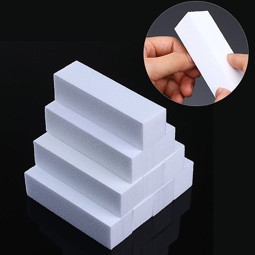 White Nail Art Buffers Sanding Block Buffing Grinding Polishing Block Nail File Buffer Pedicure Professional Nail Art Tool