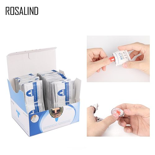 ROSALIND 50PCS/box Removal Wraps Wipes For Removing Gel Varnish  Lint-free Wipes Napkins Manicure Cleaner Nail UV Gel